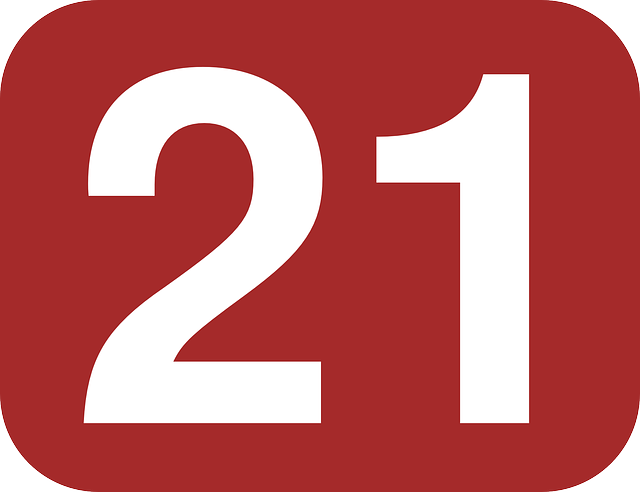 box number 21 free vector graphic on pixabay