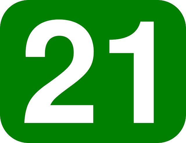 Number 21 Twenty · Free vector graphic on Pixabay