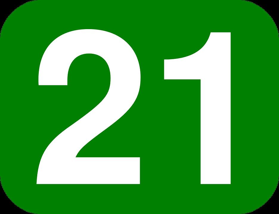 Number 21 Twenty · Free vector graphic on Pixabay on