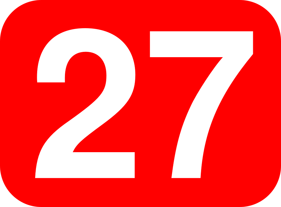 Twenty Seven Number · Free vector graphic on Pixabay on
