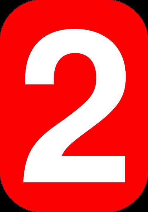 Rojo 3d Número 2 Illustracion Libre de Derechos 533872721 | iStock
