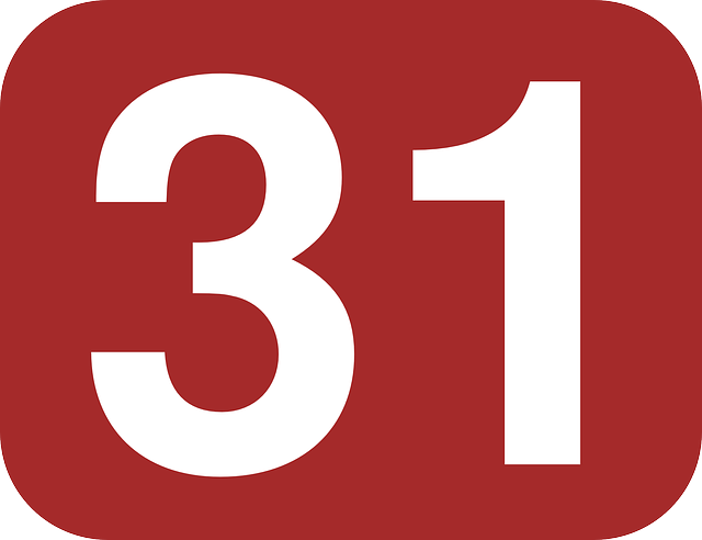 free vector graphic  number  31  rounded  rectangle