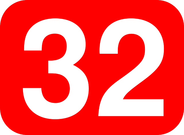 Free vector graphic: Number, Rectangle, Rounded, 32, Red - Free ...