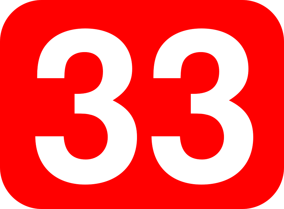 33 >> Number 33 Rounded Free Vector Graphic On Pixabay