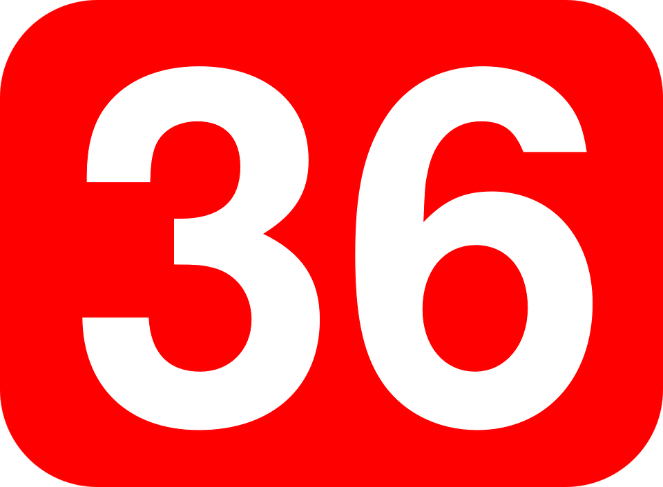 36 >> Number 36 Rounded Free Vector Graphic On Pixabay
