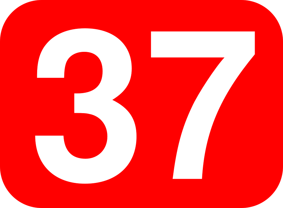 37 >> Number 37 Thirtyseven Free Vector Graphic On Pixabay