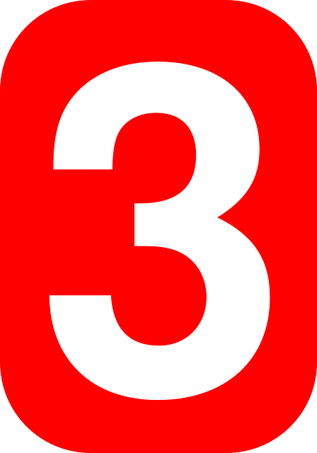 Free Vector Graphic  Three  Red  White  Number  Shape