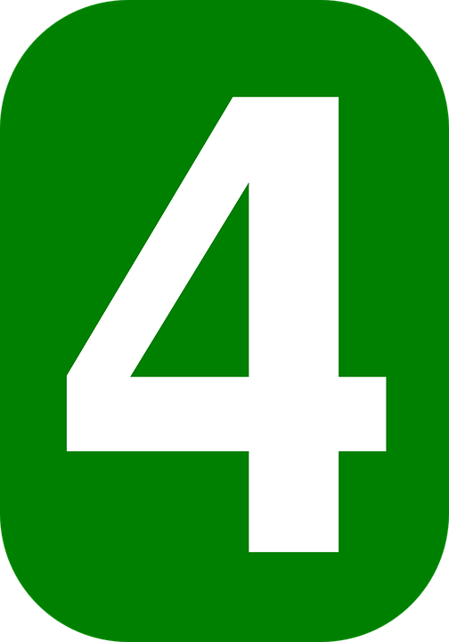 Cuatro Número 4 - Gráficos vectoriales gratis en Pixabay
