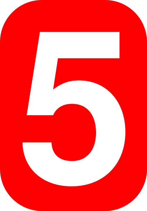 number five 5 free vector graphic on pixabay