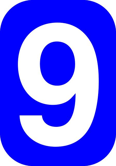 n u00famero 9 nueve  u00b7 gr u00e1ficos vectoriales gratis en pixabay