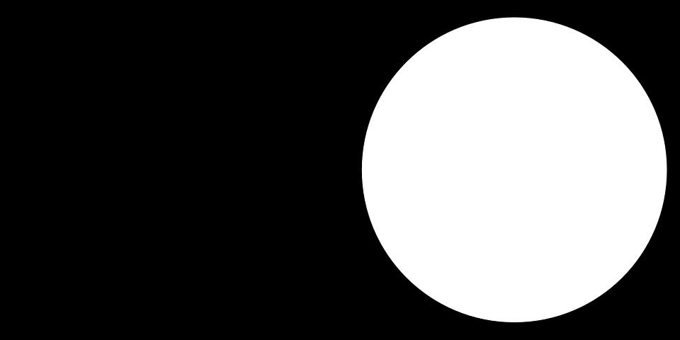 черно белый круг видео