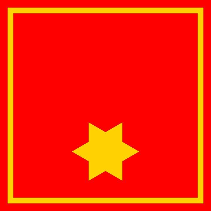 Mit fahne gelben stern rot Liste der
