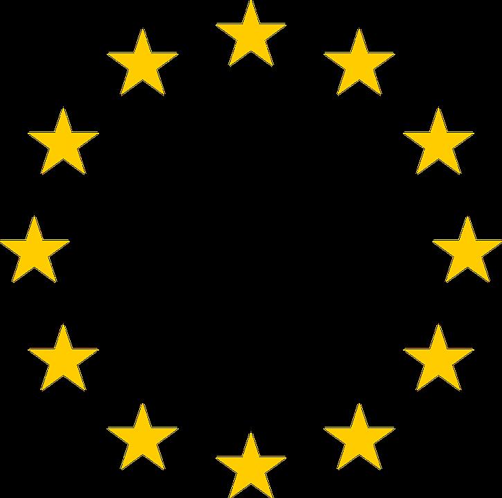Estrellas, Círculo, Ronda, Unión, Europeo, Símbolo