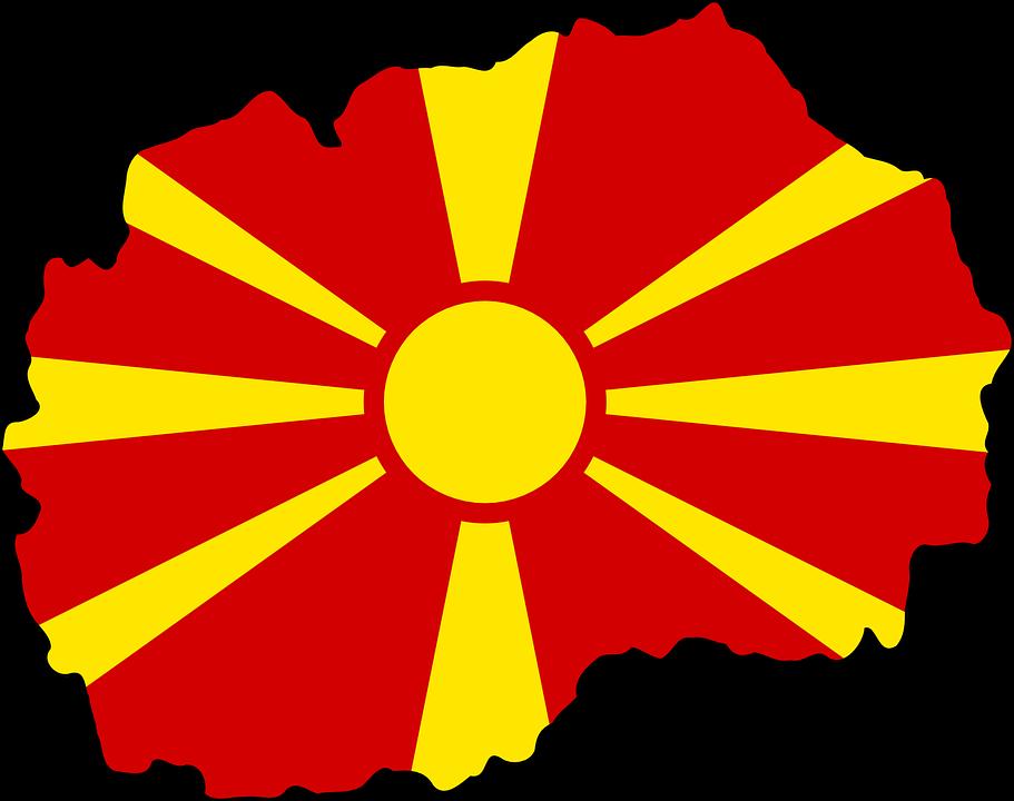 drapeau de la macedoine