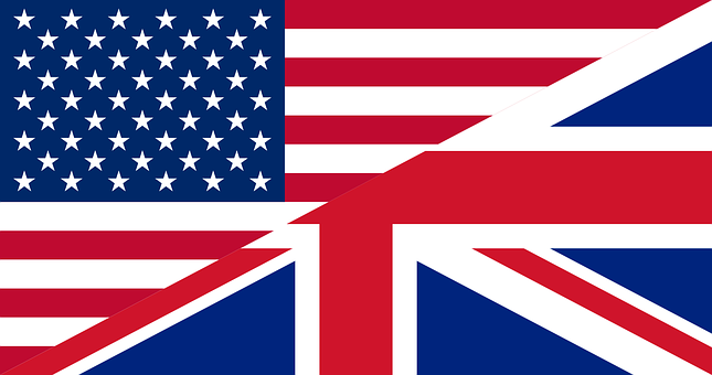 Flags, Unites States, Great Britain