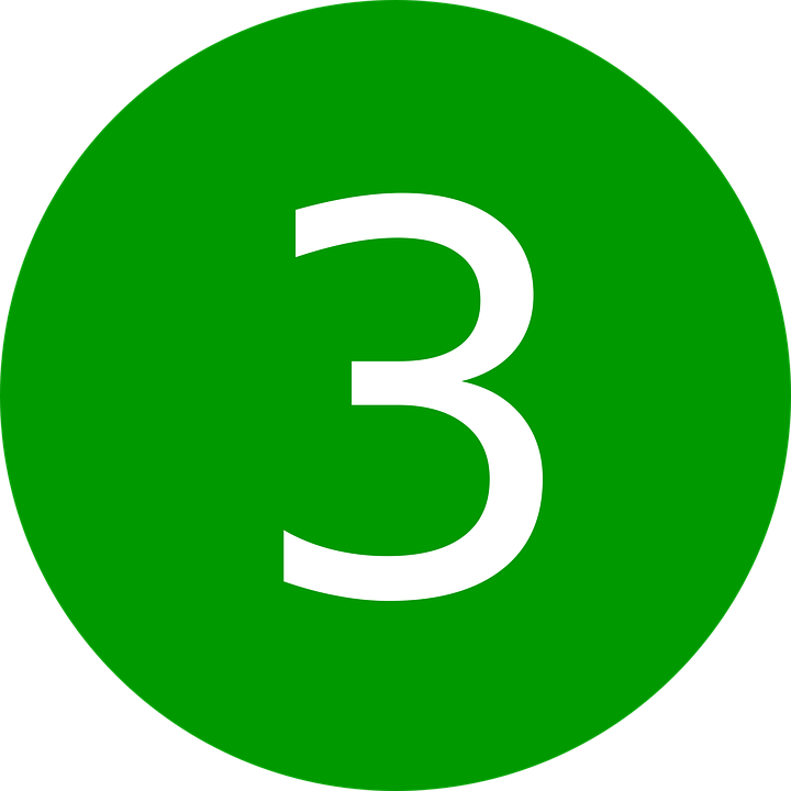 Three Number 3  U00b7 Free Vector Graphic On Pixabay