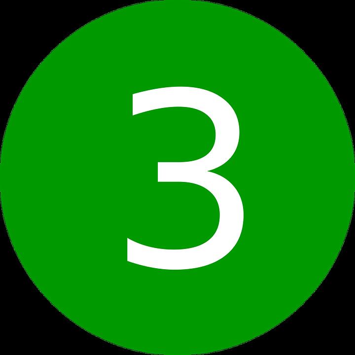 ba số 3 biểu tượng tính thứ ba chữ số