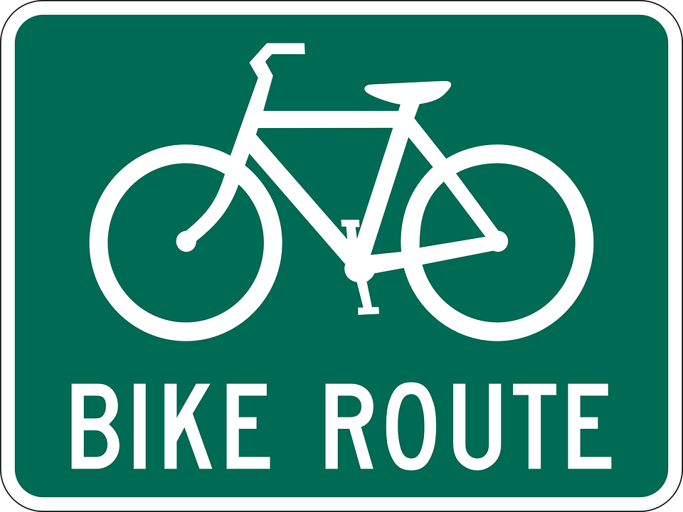 Bike Route Sign Free Vector Graphic On Pixabay
