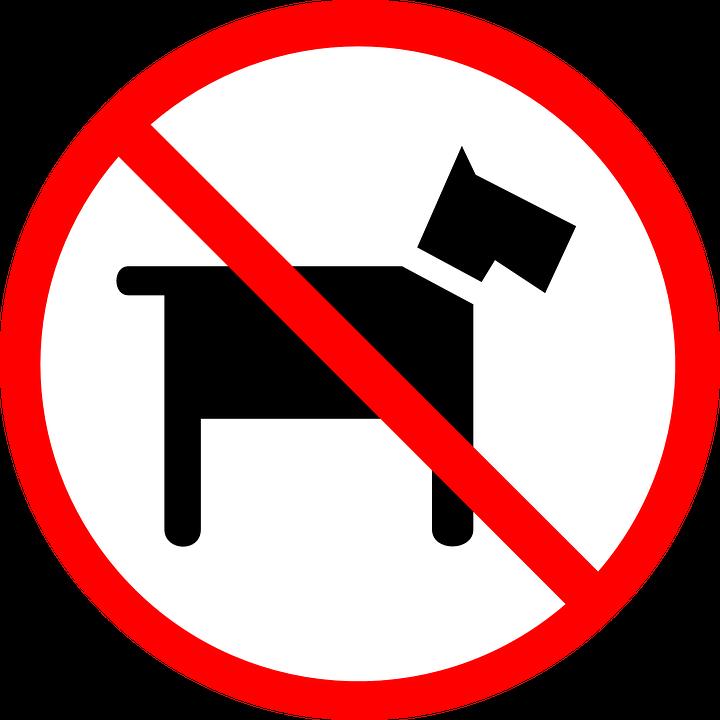 Huisdieren niet toegestaan