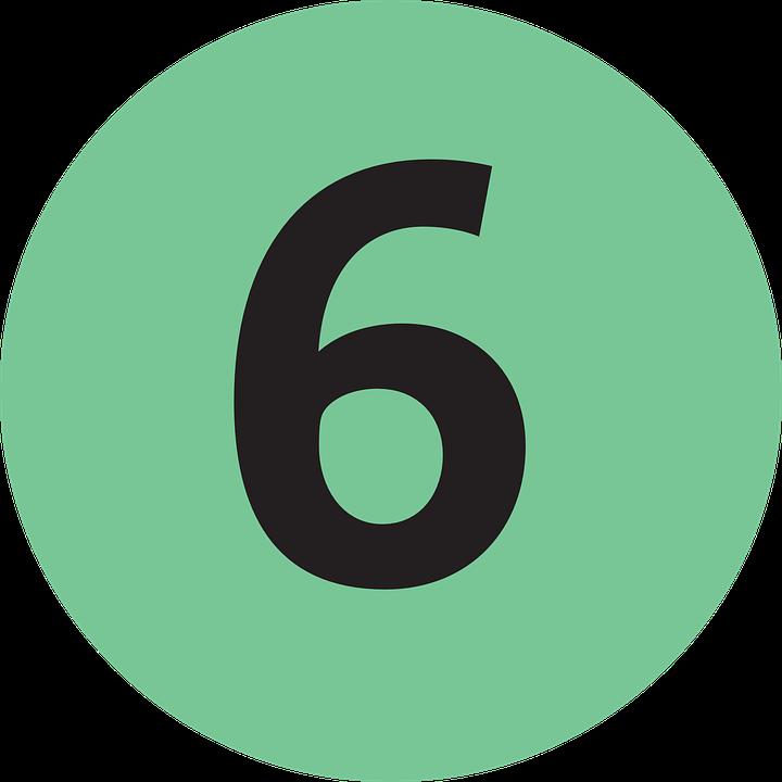 Six 6 Number · Free image on Pixabay