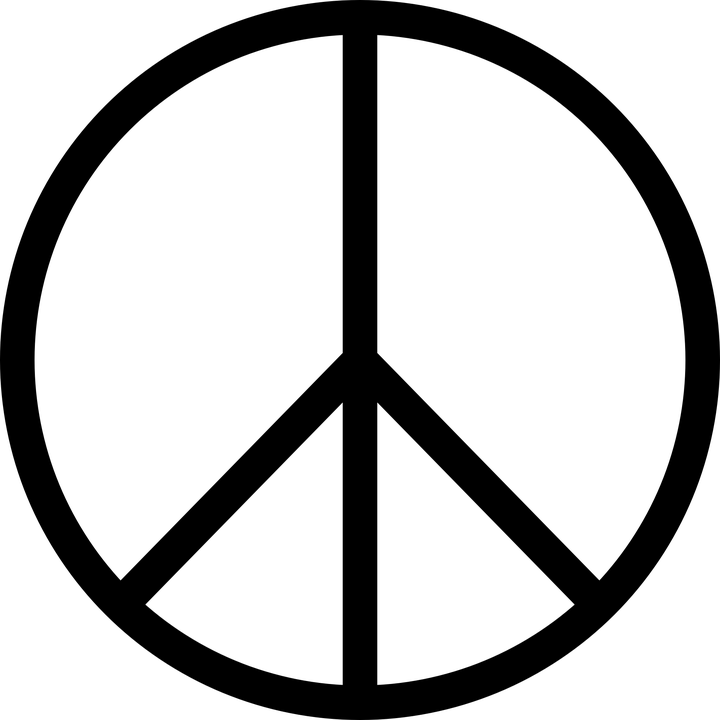 Peace Symbol Icon Free Vector Graphic On Pixabay