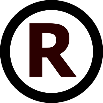 Trademark, Rights, Letter, Circle, R