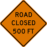 road, closed, sign