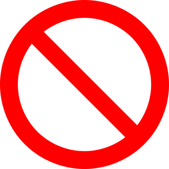 No Symbol Prohibition Sign Prohibited Symb