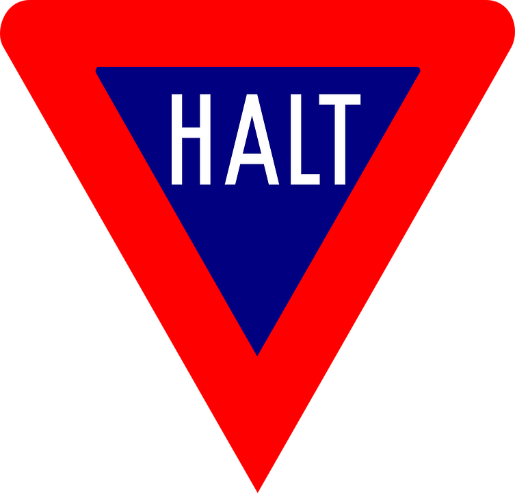 Halt Stop Sign Free Vector Graphic On Pixabay