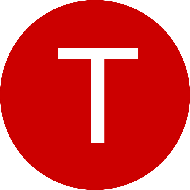 Letter Red T