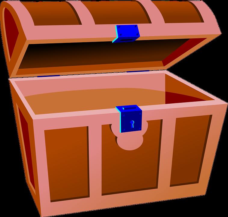 treasure chest trunk open pirate
