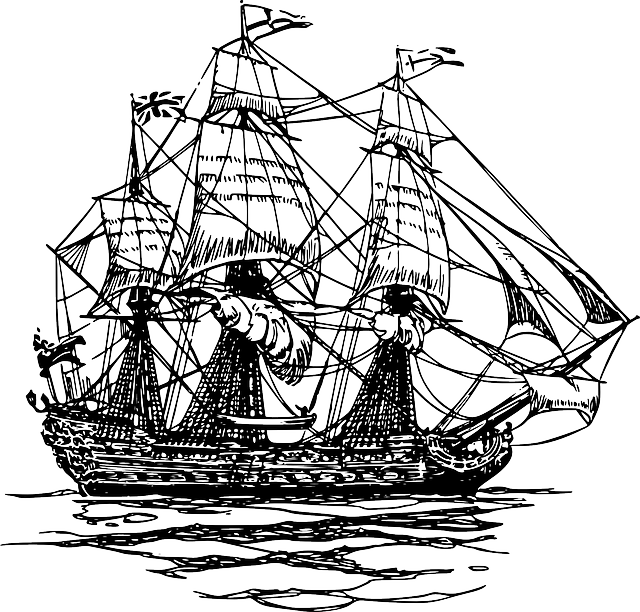 Free vector graphic ship boat pirate clipper sail free image on pixabay 40209 - Bateau pirate dessin ...