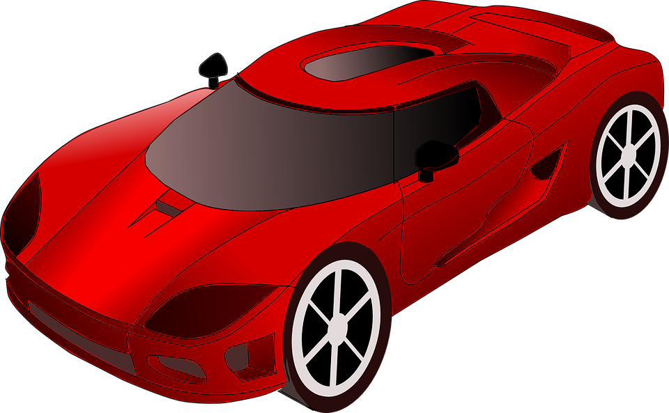 Car Racing Red Free Vector Graphic On Pixabay
