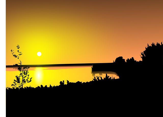 pin house cartoon sunset - photo #40