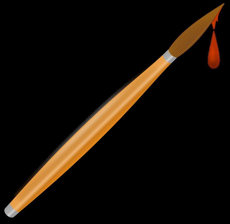 Boya Fırçası Sanatçı Pixabayda ücretsiz Vektör Grafik