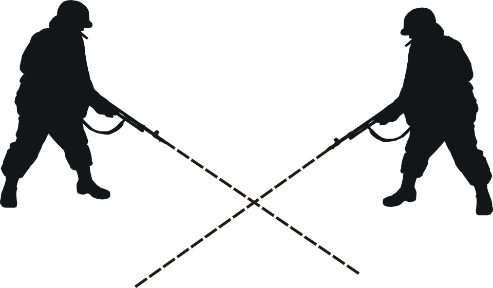 Crossed Rifle Silhouette
