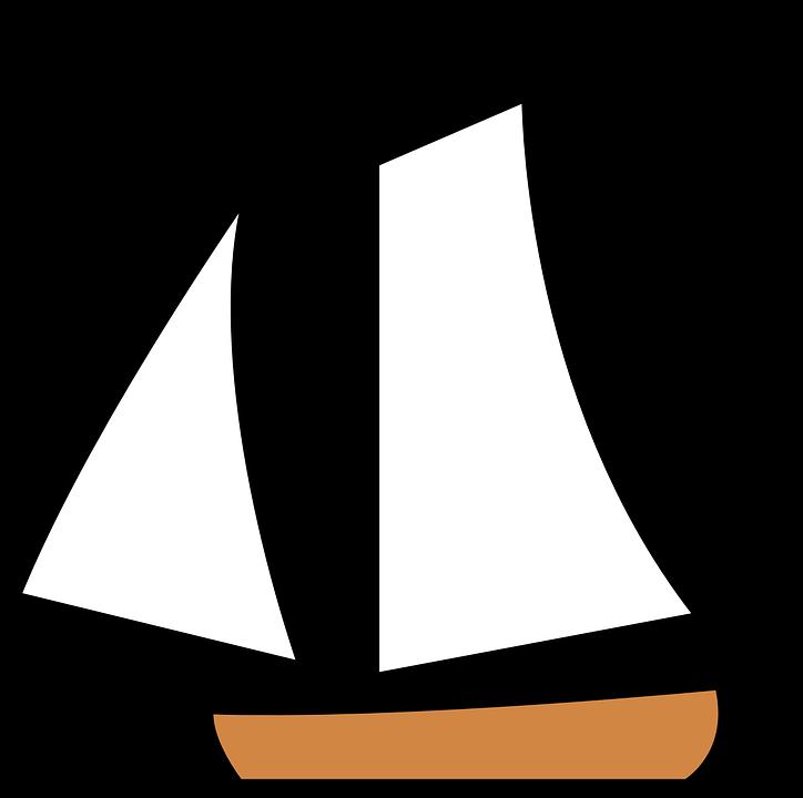 Segelboot zeichnung schwarz  Kostenlose Vektorgrafik: Segelboot, Boot, Segel, Matrose ...