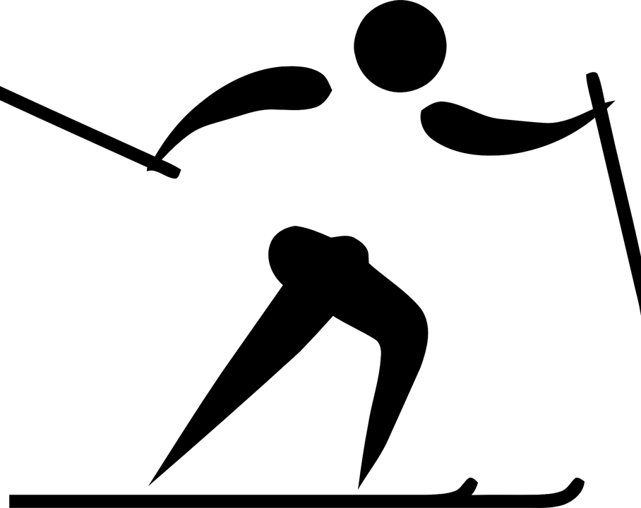 Extrêmement Image vectorielle gratuite: Ski, Le Sport, Logo, Pictogramme  XW53