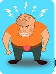guy, man, angry