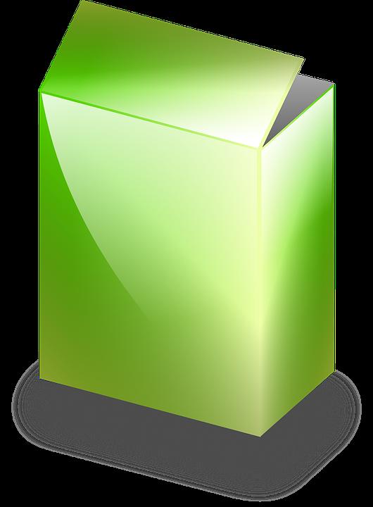 Image vectorielle gratuite bo te vert c r ales en - Boite rangement plexi transparent ...