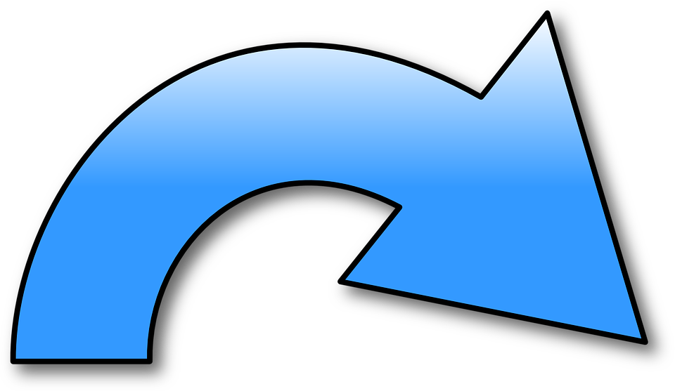 Redo Symbol Arrow Blue Right Curved Bending