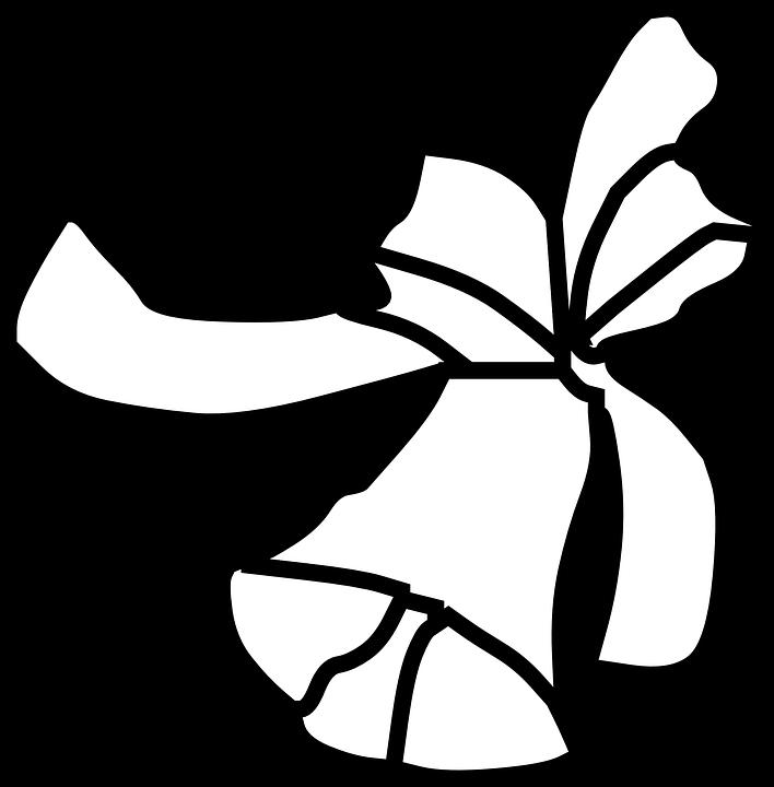 Black White Ribbon Free Vector Graphic On Pixabay Rh Com Jingle Bell Clip Art