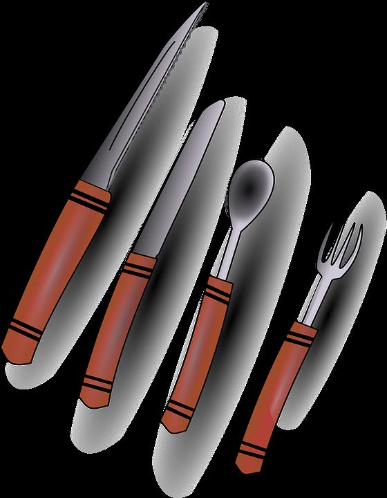 무료 벡터 그래픽: 식기, 수 저와 포크, 포크, 나이프, 도구, 부엌 ...