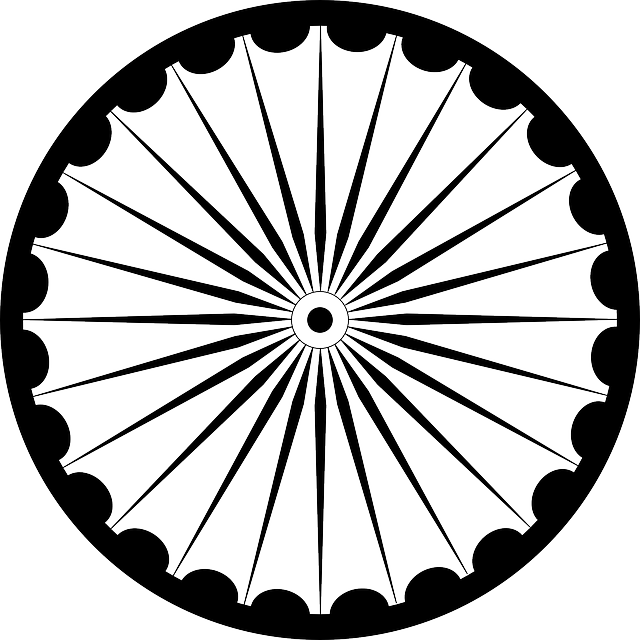Wheel Spokes Asoka Chakra Free Vector Graphic On Pixabay