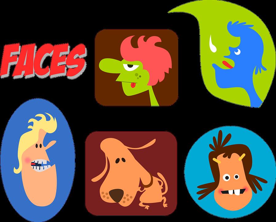 Caras Dibujos Animados Personas Gráficos Vectoriales Gratis En Pixabay