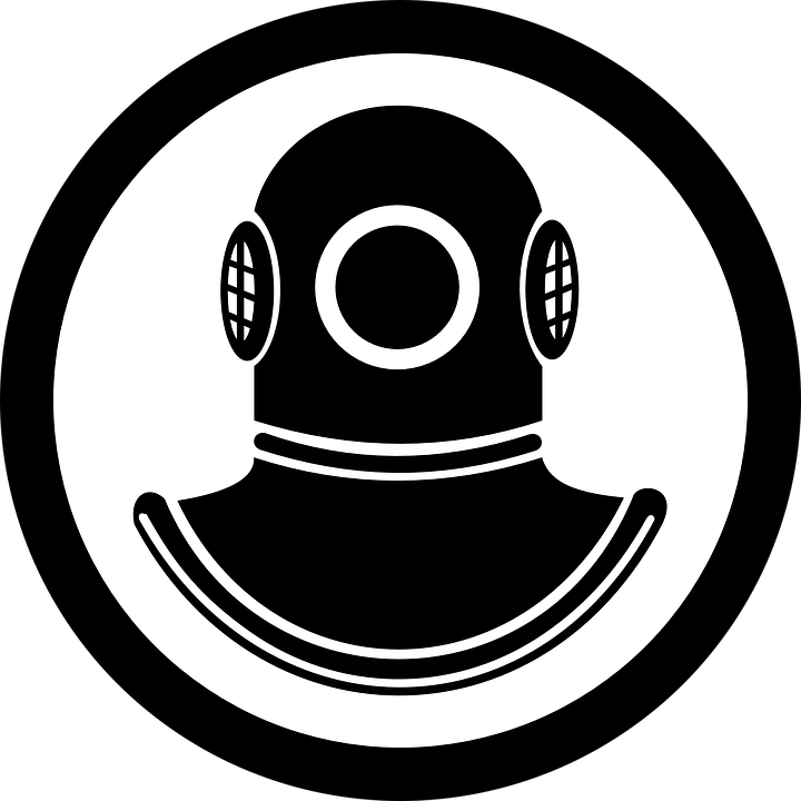 ensign diver sea  u00b7 free vector graphic on pixabay