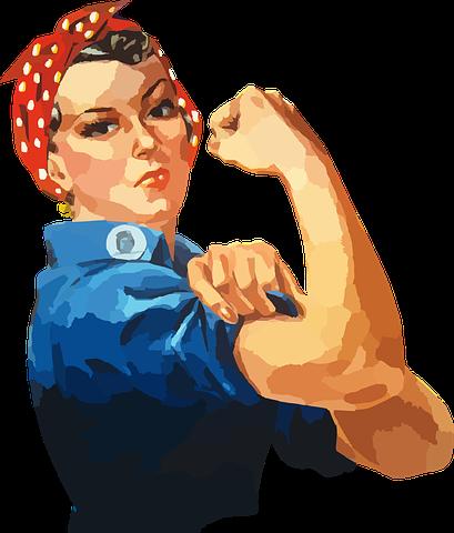 女性, 等しいかどうか, ロージー, Riveter, 従業員, 工場