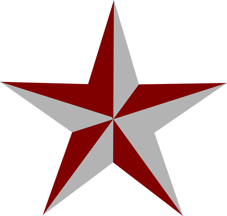 Star Red Grey - Free vector graphic on Pixabay