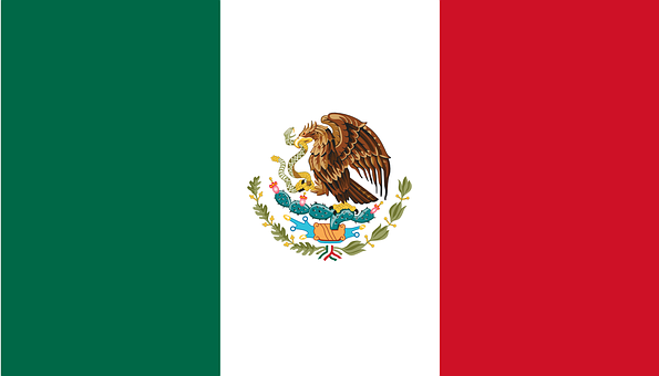 Flag, Snake, Eagle, Bird, Mexican