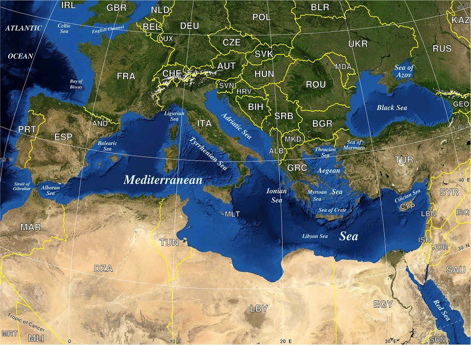 Geography Map Mediterranean · Free vector graphic on Pixabay